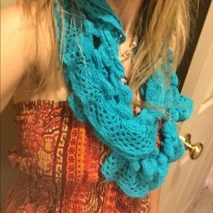 Turquoise mystery scarf